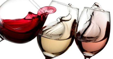 vin blanc, vin rosé et vin rouge